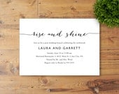 Printable Post-Wedding Brunch Invitation, Bridal Shower Brunch, General Brunch, Rise and Shine