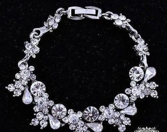 Bridal bracelet, Wedding jewelry,bridal jewelry, bridesmaid bracelet, wedding bracelet, crystal bracelet, evening bracelet, Party jewelry