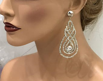 Bridal jewelry, Bridal earrings, Wedding jewelry, Bridesmaids earrings, crystal earrings, crystal jewelry, wedding earrings, evening jewelry