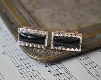 Vintage Soviet Russian aluminum cufflinks.