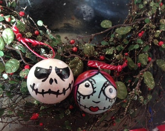 2 Nightmare before Christmas tree ornaments baubles worldwide delivery
