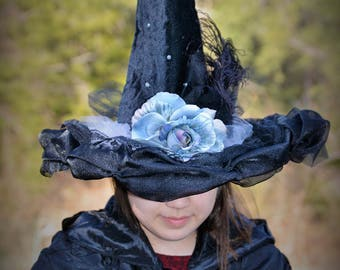 Crystal Black Witch Hat