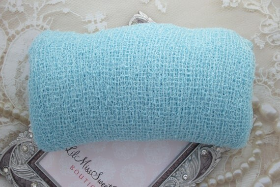 BOYS BABY BLUE Stretch Knit Swaddle Wrap 39 x 72 inches, for newborn photos, boys/girls, newborn photographer, sky blue,  Lil Miss Sweet Pea