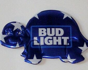Turtle Magnet - Blue Stars 'Bud Light' Beer Can