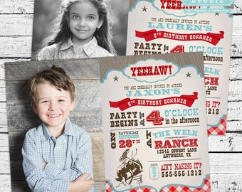 Cowboy Birthday Theme - Photo Invitation and printable party pack!