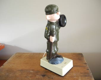 Vintage Beetle Bailey Telephone. Military. Cartoon Telephone. Soldier Telephone. Hong Kong. Working Beetle Bailey Telephone.