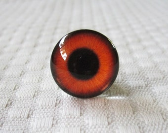 Amber glass eyes, 20mm glass cabochons