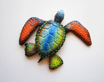 Turtle art,key west art, florida decor