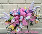 Spring Bunny Lantern Swag, Spring Swag, Spring Wreath, Spring Decorations