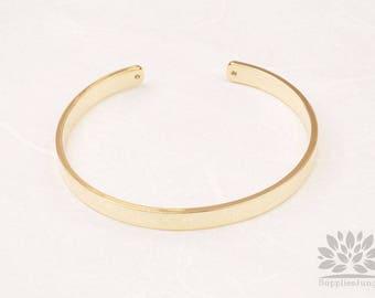 A354-G// Gold Plated Simple Bangle Bracelet, 1pc