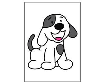 Dog | printable miniposter A4 and US letter format | by-laura