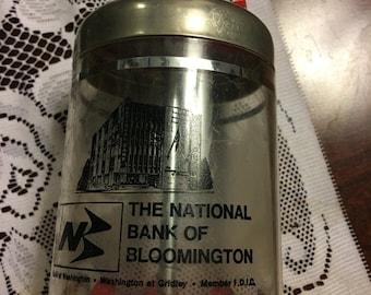 Vintage advertising bank The National Bank of Bloomington