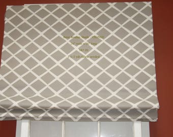 Roman Shade (24 x 36) Standard Flat With Privacy Lining and Cord Lock lift System - Send 1-1/2 yards of Your Own Fabric
