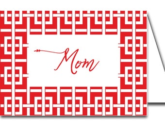 Instant Download Red Chinoiserie Printable Place Cards
