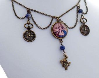 Alice in Wonderland Victorian Steampunk Handmade Designer Necklace