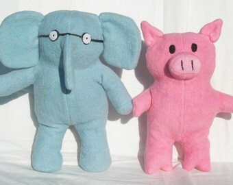 Elephant and Pig, Baby Friends, Organic Stuffed Animal Toys: GOTS Certified Organic Cotton & Fiber Reactive Dye
