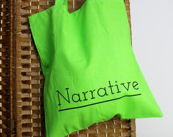 Narrative Logo Greenery Tote Bag