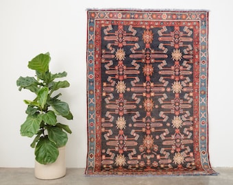 SUREEN 5x7 Hand Knotted Persian Wool Rug