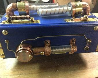 Custom Steampunk Blue Mystery Box Unique Original
