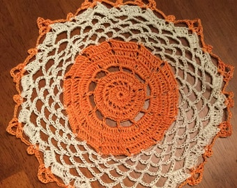 Autumn Love Doily