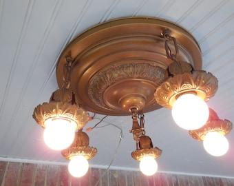 Antique Lighting 1907 Williams Ele. Chandelier Fixture #1