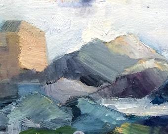 "Wonderful ""Quarry""Landscape cliff Garden Monet plein Air Oil Painting Expressionist expressionistic impressionist"