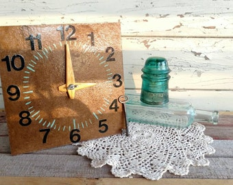 Handmade Learning Clock Tool - Mid Century Learning How To Tell Time, Homeschool Clock, How to Tell Time, Home Decor, Handmade Learning Tool