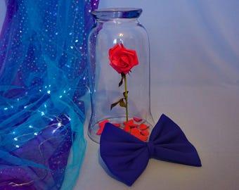 Blue Belle Hair Bow - Belle Bow - Belle Hair Clip - Blue Hair Bow - Blue Bow - Hair Accessory