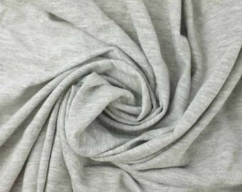 100% Cotton Baby Tee Shirt Jersey in Gray Heather, by the yard