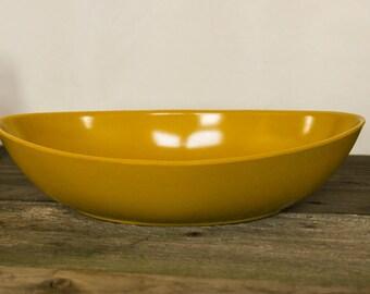 Melanine Bowl, Mid-Century Mod Style, Golden Mustard Color