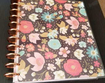 Bold Floral Happy Planner Cover - Big