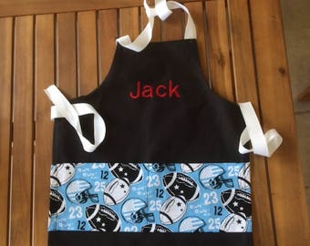 Boys apron in football print includes name!