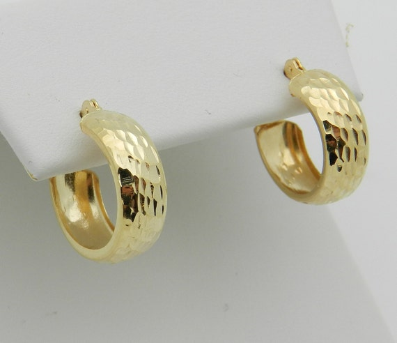 14K Yellow Gold Hoop Earrings Hoops FREE SHIPPING Fine Jewelry Perfect Gift