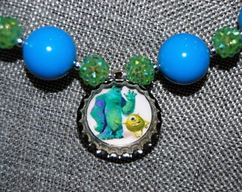 Monster's Inc. chunky bead necklace