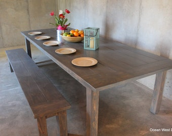 Farmhouse Kitchen Table / Farmhouse Dining Table / Rustic Farmhouse Table / Farm Style Table / Harvest Table / Custom & Handcrafted / Parson