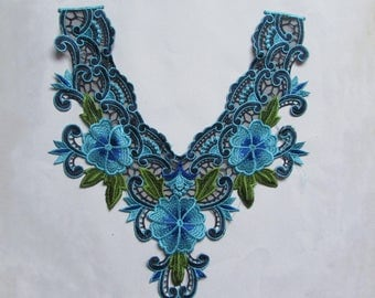 embroidery lace collar applique price for 1 pc
