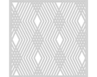 SA103 DIAMOND STENCIL 6×6, Paper Crafting, Card Making, Scrapbooking, Stencil