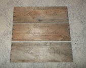 SET OF 3 Vintage 80's Mason Nicolas wine crate Panels 19 3/4 x 6 3/4""