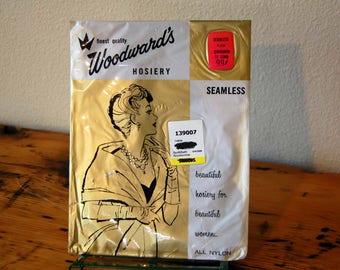 Vintage Woodward's Fifth Avenue Hosiery Vintage Seamless Hosiery Vintage Nylongs Ladies NOS Garter Nylons from The Eclectic Interior