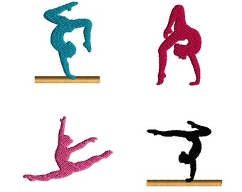 Mini Gymnast Machine Embroidery Design Set-INSTANT DOWNLOAD-3 sizes