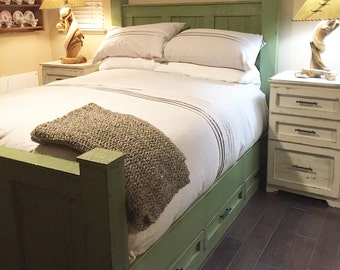 bed frame solid wood bed bedroom furniture panel bed reclaimed wood furniture joanna gaines inspired