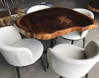 Live Edge Dining Table Set (Includes Chairs)