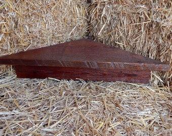 Barnwood corner shelf, barnwood shelf, corner shelf, varnished corner shelf