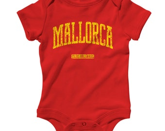 Baby One Piece - Mallorca Spain - Infant Romper - NB 6m 12m 18m 24m - Baby Shower Gift, Majorca Baby, Balearic Islands, Mediterranean Baby