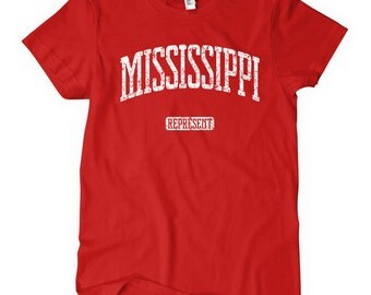 Mississippi ladies etsy for T shirts jackson ms