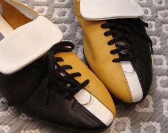 1980's LIZ CLAIBORNE sporty SHOES oxford sneaker 6.5 leather