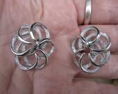 Vtg silver Sarah Coventry clip on earrings
