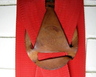 Vtg Klein tools wide red suspenders