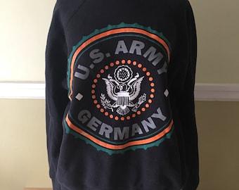 Vintage US Army Germany Crewneck Sweatshirt Eagle Army