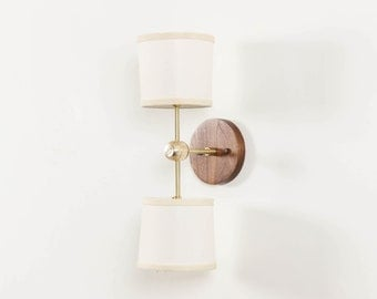 Sconce, Wall Lamp, Modern Lighting- Double Linen Sconce